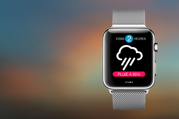 Météo Pocket accessible depuis l'Apple Watch